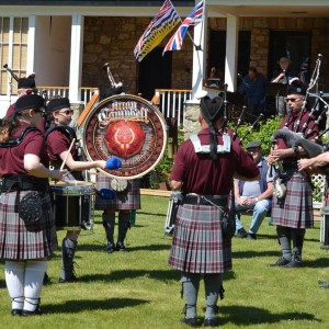 Pipers at Mother's Day Event