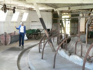 Milking Stations inside the Octagonal Barn